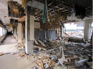 学校の校舎内被災状況