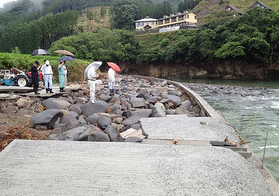 山国町へ災害被害調査に伺いました。